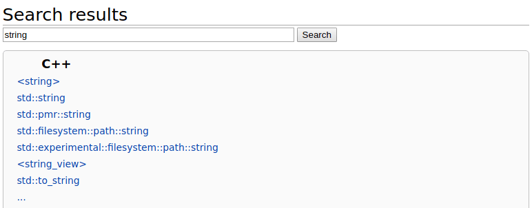 string search